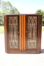 Antique Art Deco Glass Display Cabinet China Crystal