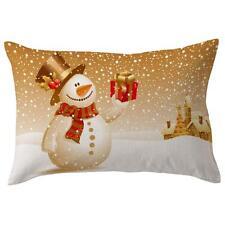 Cotton Linen Christmas Sofa Waist Throw Cushion Cover Car Pillow case Home Decor