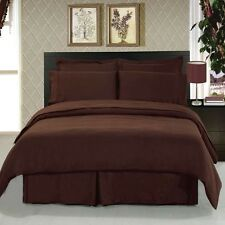 1200 Thread Count Egyptian Cotton 1200TC PILLOW CASE Set KING Chocolate Solid