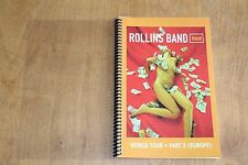 Henry Rollins / TOUR ITINERARY / NICE World Tour Europe Book 3