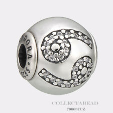 Authentic Pandora Essence Collection Sterling Silver Cancer Bead 796037CZ
