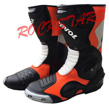 HONDA REPSOL MOTORBIKE/MOTOGP/MOTORCYCLE RACING LEATHER BOOTS/SHOES