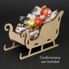 Freestanding Santa Christmas Sleigh Wooden Kit - flat packed/ easy assembly