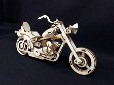 Harley Davidson Laser Cut Wooden 3D Model/Puzzle Kit