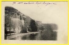 cpa Dos 1900 RARE 01 - MONTREAL la CLUSE (Ain) CHÂTEAU du MONT LAC NANTUA