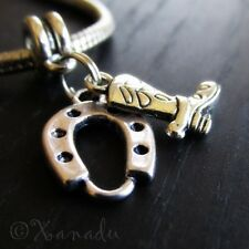 Lucky Horseshoe Cowboy Boot European Charm Bead For European Bracelet Chains