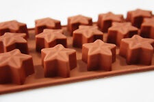 15 cell 3D STAR Chocolate Box Candy Silicone Bakeware Mould Cake Wax Melt Mold