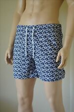 Abercrombie & Fitch Campus Fit Dolphin Print Swim Tugger Shorts Navy Blue L £60