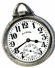 Antique 21 Jewel 60 Hour Railroad Pocket Watch ILLINOIS Bunn Special