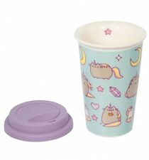 Official Blue Pusheen Unicorn Ceramic Travel Mug