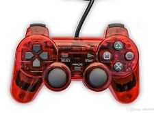 New RED PS2 Shock Controller (Sony PlayStation 2) Dual Vibration Gamepad