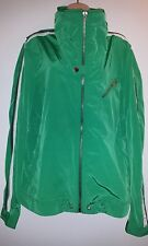AUTHENTIC DIESEL GREEN NYLON JACKET with HOOD Size L Slim Feet. New
