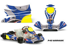 AMR Racing Graphics KG Freeline Birel Cadet Sticker Kits Decals WARHAWK BLUE