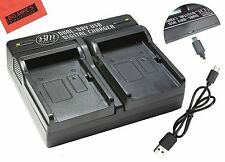 LP-E5 Dual Battery Charger for Canon EOS Rebel XS, XSi, T1i, 1000D, 500D, 450D