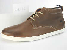 NEW Mens UK 8 EU 42 Wrangler WR116 Lace up brown Leather desert Ankle Boots