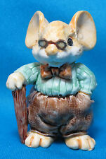 Ganz Little Cheesers Words of Wisdom Mouse Small Resin Figurine 05241 1992