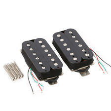 Black Humbucker Guitar Pickup Set Neck Bridge Alnico 5 Magnet Copper-Nickel Base