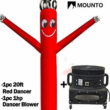 MOUNTO  20ft Wind Fly Dancer Dancing Sky Air Puppet with Blower RED