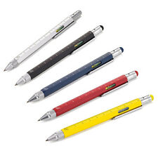 6 in1 Touch Screen Stylus Ballpoint Pen with Spirit Level Ruler Screwdriver HUUS