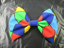 Bow Tie Multi Coloured Clown Harlequin  Fancy Dress Acessories