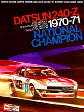 Datsun 240Z National Championship SCCA Production 1970-71 Car Poster RARE!