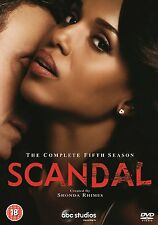 Scandal . The Complete Season 5 . Kerry Washington . 6 DVD . NEU . OVP