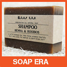 1 x HENNA ROOIBOS SHAMPOO BAR - medium to dark brown hair natural handmade Soap