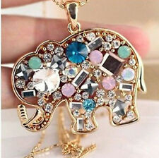 Hot Fashion Charm Elegant Elephants Pendant Sweater Chain Retro Silver Necklace