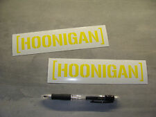 2x stickers decal HOONIGAN Jaune 18cm drift race gymkhana Ken Block A84-025