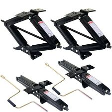 "4 PC 5000lb 4""- 24"" RV Camper Scissor Leveling Jacks Trailer Stabilizer w/Handle"