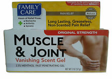 1 - Family Care Muscle & Joint Vanishing Scent Gel 2oz Pain Relief like Bengay