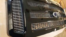 2005-2007 Ford PAINTED black BILLET INSERTS Grille Grill F250 F350 F450