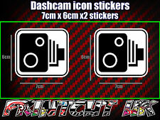 DASHCAM DASH CAM CAR CAMERA ICON STICKERS X2 decal dvr car van bike truck bus