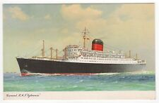 RMS SYLVANIA PC Postcard CUNARD LINE Cruise Ship LINER Boat LIVERPOOL England UK