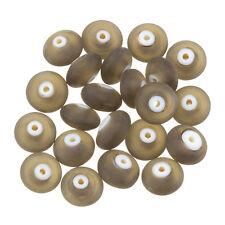 Donut forme mat givré gris foncé perle de verre 12mm pack de 20 (C38/4)