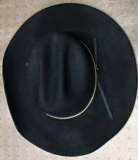Bailey Stampede Wool Size 7 1/8 Men's Black Cowboy Hat Gold Band Accent Western