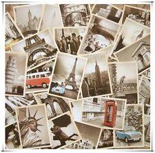 Lot of 32pcs Vintage home decoration Postcards Scenery Building of Paris/Roman