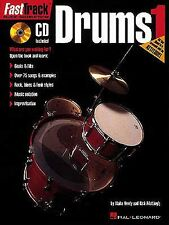 Fast Track Drums Learn to Play Drummer Beginner Lesson Music Book 1 & CD