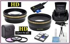 Super Saving HD Lens-Filter Acc Package for Nikon D3500 D3300 D3200 D3100 D3000