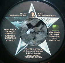 "* * BEATLES' RINGO STARR's 1973 #1 HIT ""YOU'RE SIXTEEN"" CLEAN M- GEM APPLE 45!"