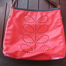 RARE Orla Kiely reversible Anie bag RED NAVY leather vintage REDUCED