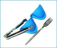 BBQ & Stove Accessories - Extendable Fork, Small Tongs, Silicone Oven Mitts - G
