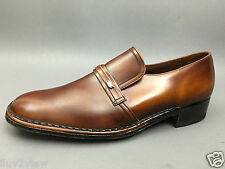 Barker of Earls Barton England Brown Men's Classic Loafers Size 12
