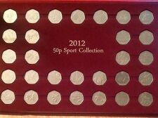 Full Set 2012 50P Pence Sport Collection Olympic Coins In Presentation Tray Case