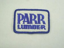 Vintage PARR Lumber Logo Iron On Patch- Lumber & Building Supplies Co in Oregon