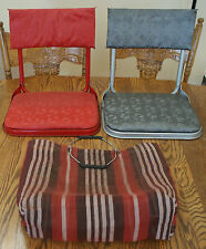 Vintage Pair of Stadium Seats Red & Gray with Carrying Bag #S6