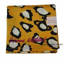 New Vivienne Westwood Handkerchief / Mini-Scarf Leopard Orb Yellow Japan-Made
