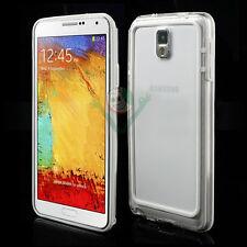 BUMPER bianco trasparente per Samsung Galaxy Note 3 N9005 cover custodia case
