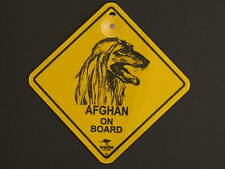 Afghan On Board Dog Breed Yellow Car Swing Sign Gift