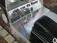 Club Car DS Golf Cart 6 pc Kit Diamond Plate  floor / kick panel / side inserts